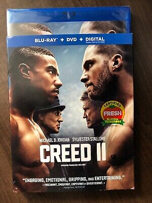 Creed 2 II Blu Ray & DVD w Slip Cover Canada Bilingual *LOOK*