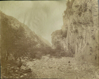 Sparta, Greece Langada Pass Vintage Albumen photo, c. 1880