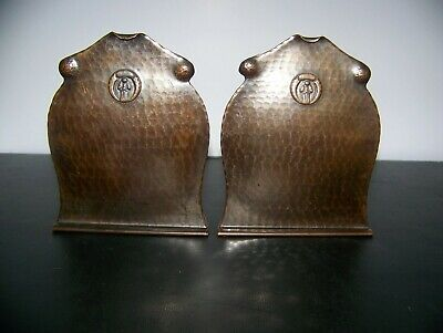 Antique Old Mission Koppercraft Bookends 1920'S Rare!