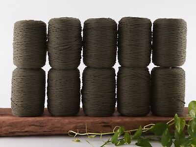 khaki olive 4mm macrame rope 10kg 3 ply string coloured cotton cord bulk cheap