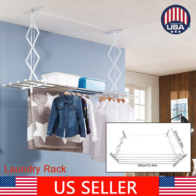 Clothes Drying Rack Line Laundry Dryer Indoor Retractable