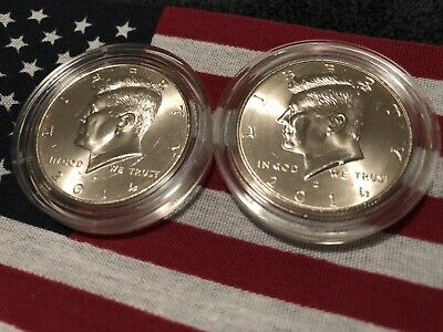 2014 P&D Kennedy Half Dollars Kenedy US.MINT ROLL Clad 50¢ 2 Uncirculated PD Set