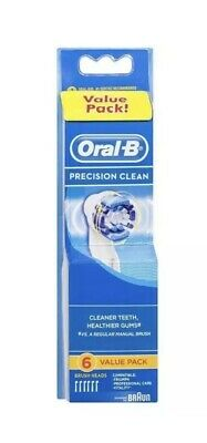 Oral-B Precision Clean Replacement Electric Toothbrush Heads 6 Pack  + Free Post