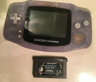 Nintendo Game Boy Advance Purple Glacier Handheld Gaming Console AGB-001