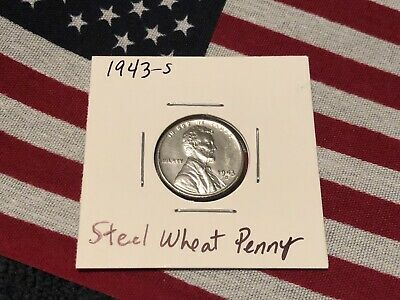 1943-S Steel Lincoln Wheat Cent Gem Uncirculated Problem Free BU Coin