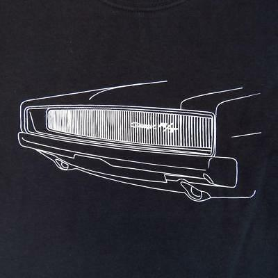 1968 DODGE CHARGER RT T SHIRT BULLITT MOVIE CHASE CAR STEVE McQUEEN BLACK R/T