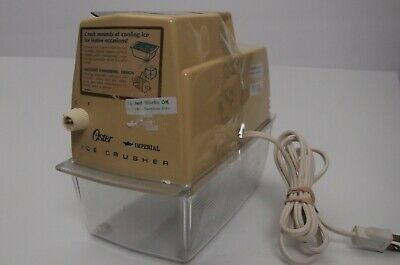 Vintage Oster Imperial Snowflakes Ice crusher Harvest Gold Yellow