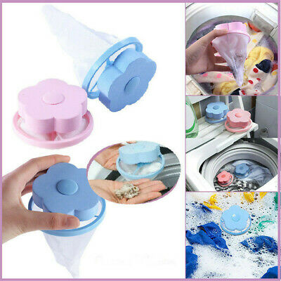 Floating Pet Fur Catcher Laundry Lint & Pet Hair Remover Popular Blue Pink