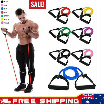 Elastic Resistance Bands Loop Yoga Exercise Gym Fitness Workout Stretch Physio
