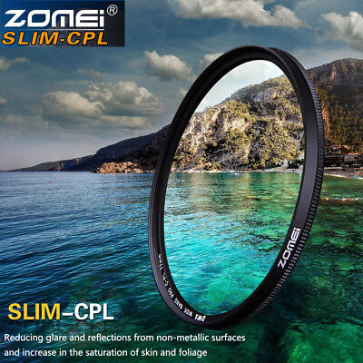 Zomei Slim CPL Circular Polarizing Polarizer Filter 52/55/58/62/67/72/77/82mm