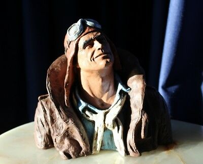 Hand Painted Michael Ga Sculpture Flying Leather Circa 1973