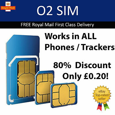 New & Sealed O2 Pay As You Go Sim Card 2G 3G 4G 3p a min / 2p a text / 1p a MB