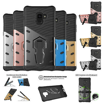 For Samsung Galaxy Note 5 7 8 S5 S6 S7 S8 S9 A8Plus Shockproof Rotate Stand Case