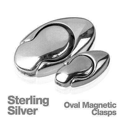 Sterling Silver Single Oval Magnetic Jewellery Chain Clasp