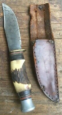 William Rodgers Cut My Way Bowie Knife Sheffield Antler Hand Grip. Very Nice!