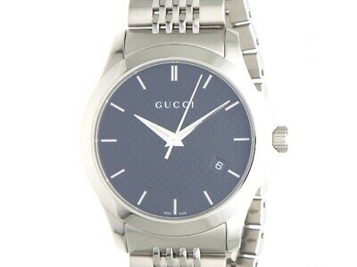 bec2a8a2a7c Gucci Mens Watches Quartz Battery G Timeless 126.4 Stainless Black Daily  Life