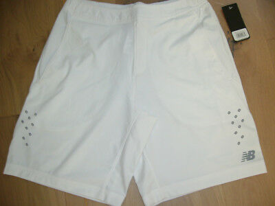 Men's New Balance Tennis Shorts. NWT. White. Small