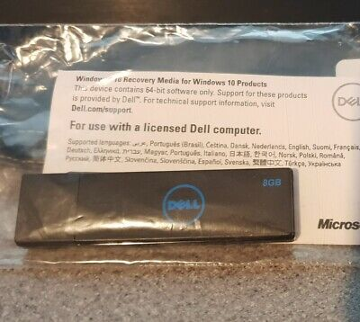 *NEW* GENUINE DELL WINDOWS 10 PRO 64BIT x64 RECOVERY USB DRIVE VJ3VFA00