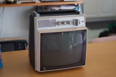 Retro Potable Philips TV, Rare, CRT, Display for Shops, Vintage Vibe, Cool