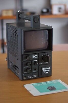 Vintage National IC COMMANDO 505 TV 1970's, Working, Japan Made, Retro, Cool