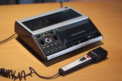 Grundig Stenorette 2200 Voice recorder+Microphone, Made in Germany, Rare, Retro