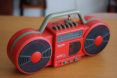 Philip Red funky Boombox, Great Condition Retro, Vintage, Fully working, Rare
