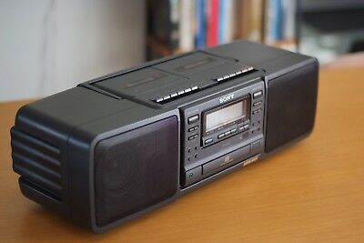 Sony AM/FM Stereo, Casette, CD Boombox, Vintage, Retro, Equalizer, highend