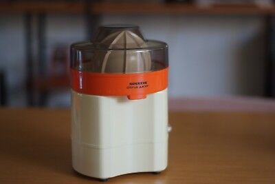 Retro Orange Speedie Citrus Juicer, Mid Century, Modernist, Made In Japan. Rare