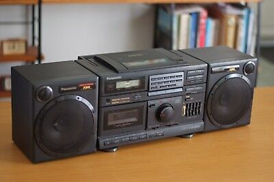 Panasonic AM/FM Stereo, Casette, CD Boombox, Vintage, Retro, Equalizer, highend