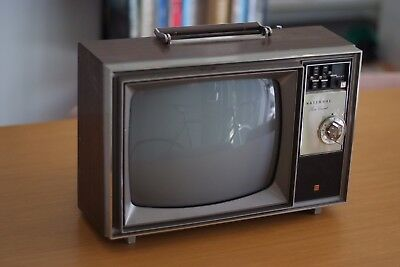 Retro Potable National TV, Rare, CRT, Display for Shops, Vintage Vibe, Cool,