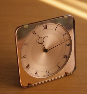Rare Vintage Art Deco Smiths Mechanical Desk Clock, Mid Century, Made in Britain
