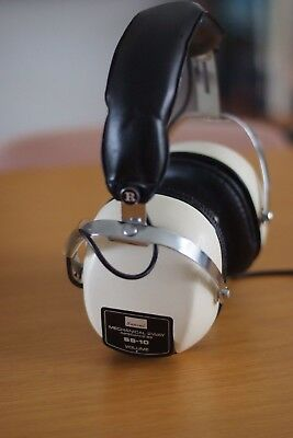 Retro Vintage SANSUI SS-10 8 Ohms Stereo Headphones, Made in Japan, Working, VGC