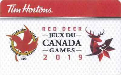 Gift Card: Tim Hortons (Canada) 2019 Canada Winter Games - Red Deer, AB FD64241
