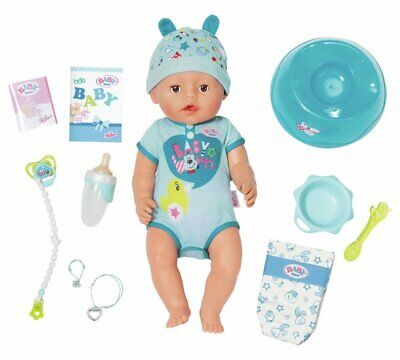 Baby Born Soft Touch Boy Doll Eat The Food Provided  NEW_UK_SELLER