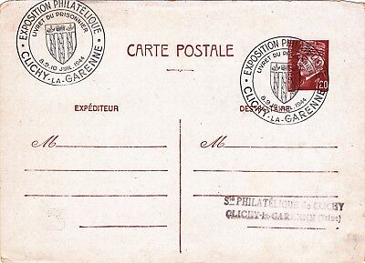 Carte Postale - Exposition Philatelique - 1944 - Clichy La Garenne