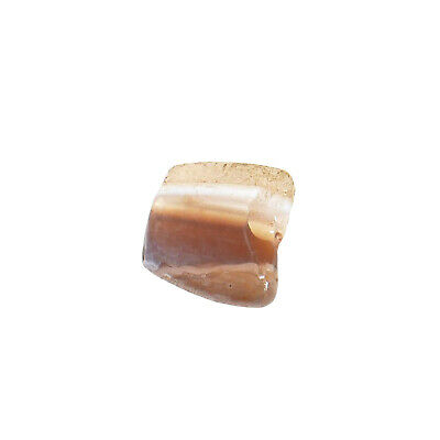 (2433)  Bactrian Culture Banded Carnelian Agate Bead  .Pre islamic