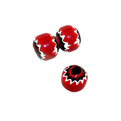 (2431) Red/Black/White 5 layers Chevron beads by Ercole Moretti 1980s