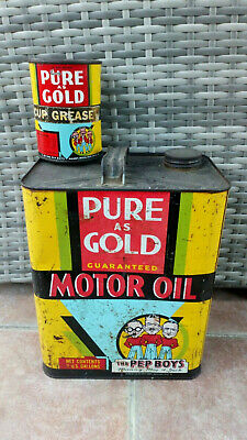 Bidons huile pure as gold oil cans usa import
