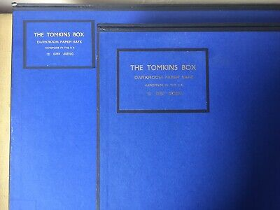 Rare Darkroom Paper Safe 'THE TOMKINS BOX' Made In UK, Paterson,Illford Supplies