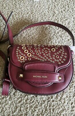 deb73f9d0060 MICHAEL KORS CARY Oxblood Saddle Small Crossbody Purse Leather, New with  Tags