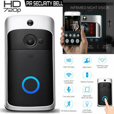 Smart Video Wireless WiFi Door Bell IR Visual Camera Record Security System E US