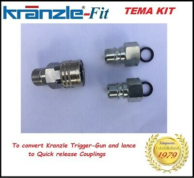 Kranzle-Fit Industrial TEMA Quick Release Coupling Kit K7  K10 -  1 Fem & 2 Male
