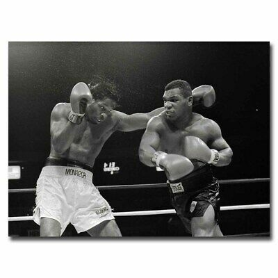 Mike Tyson Green 24x32inch Box History Moment Silk Poster Hot Wall Decoration