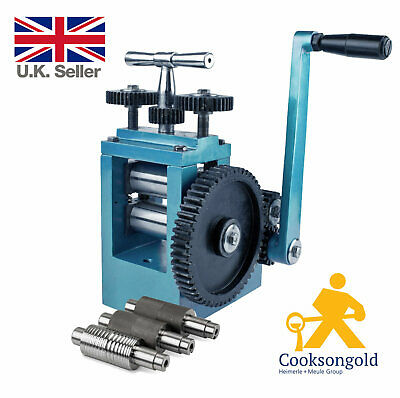 Cooksongold Blue Combination Jeweller's Rolling Mill OR Order a Spare Roller