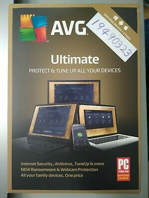AVG  Ultimate 2019 Unlimited Devices 2 Years Physical key card