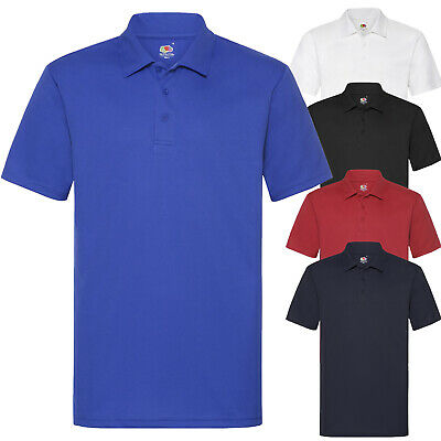 Polo Sportiva Uomo Maglia Poliestere Traspirante con Colletto FRUIT OF THE LOOM