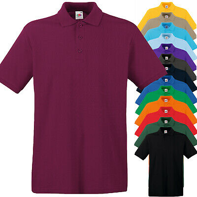 Polo da Lavoro Uomo T-Shirt Con Colletto 100% Cotone FRUIT OF THE LOOM Premium