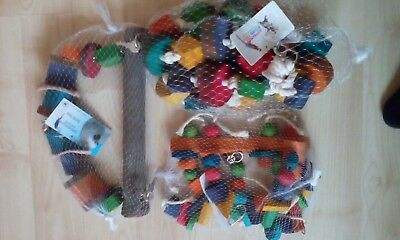 Job Lot 3 Parrot Toys For Parrots And Parakeets African Grey Amazon Cockatoo .