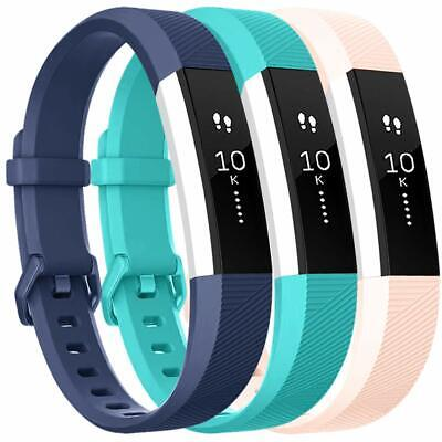 Silicone Wristbands Replacement Bands for Fitbit Alta HR and Fitbit Alta(3 Pack)