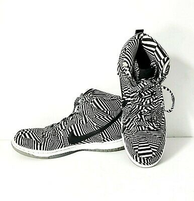 low priced 9ce61 cef2a NIKE Dunk High Premium SB Concept Car Zoom Air Shoes Size 10 Zebra Preowned